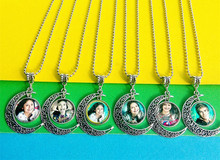 ФОТО 12pcs/lot (mixed models)jiangzimei  super pop singer soy luna elenco de  silver necklace i'm moon glass pendant