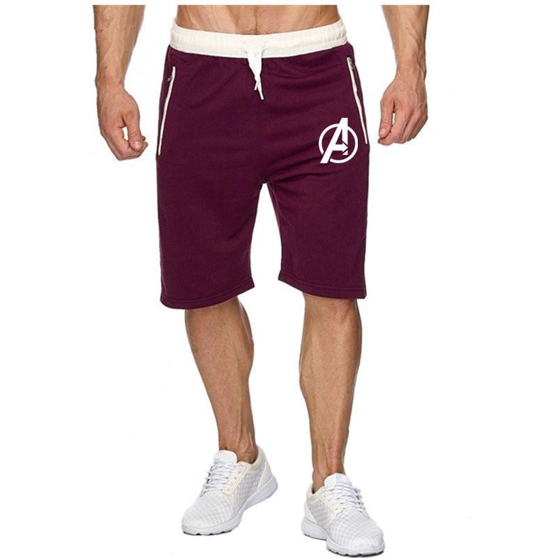 Fashion Brand Men's Avengers Realm Shorts 2019 Spring Summer Male Sweatpants Fitness Bodybuilding Workout Man Fashion Shorts