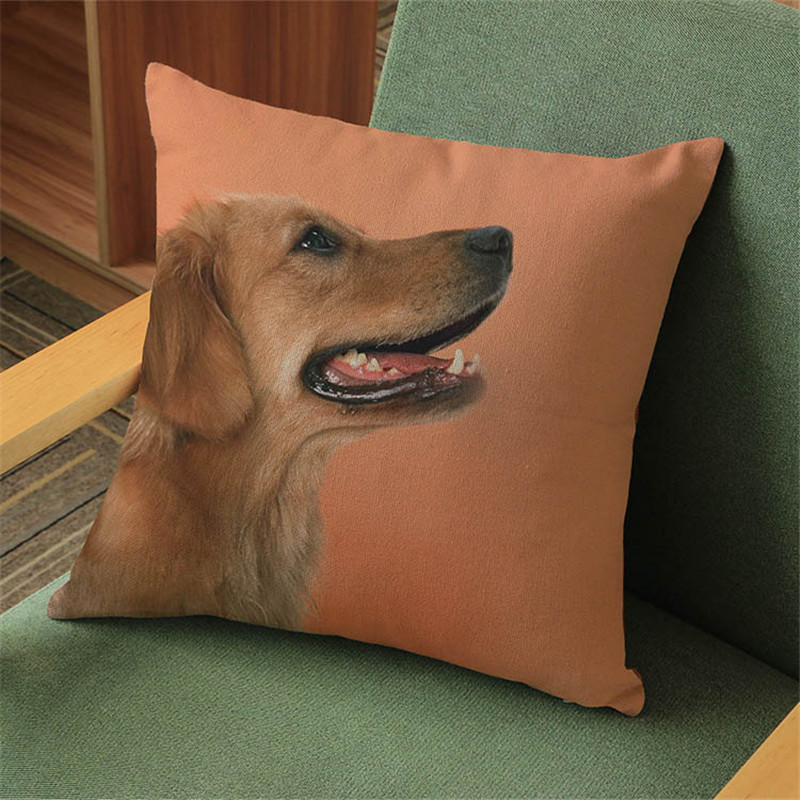 Lovely cute dogs Animal Pillow case Cushion Cover chair sofa seat office Home hotel coffee shop Decoration for children gift