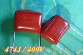 Original 50pcslot CBB Capacitor CBB474J 0.47UF 400V 15MM CBB22 Material...