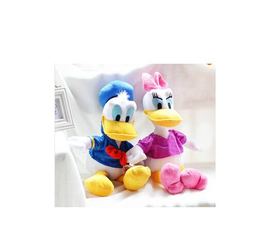1pcs 30cm Cute Stuffed Dolls Donald Duck& Daisy Duck Soft Plush Toys Kids toys Low Price& High Quality Children Christmas Gifts fancytrader new style giant plush stuffed kids toys lovely rubber duck 39 100cm yellow rubber duck free shipping ft90122