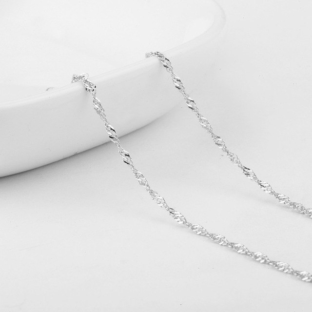 New Pendant Necklace 925 Sterling Silver Chain Necklace for Women Men Fine Jewelry