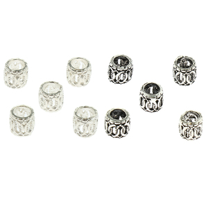 5PCS Silver Beads for Jewelry Making Bracelets Necklaces Key Chains and Kids Jewelry Findings Accessories Bracelet