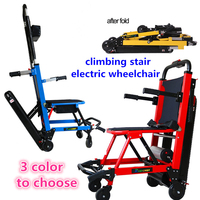 Free shipping cheapest lightweight portable power electric stair climbing wheelchair with lithium battery for elderly