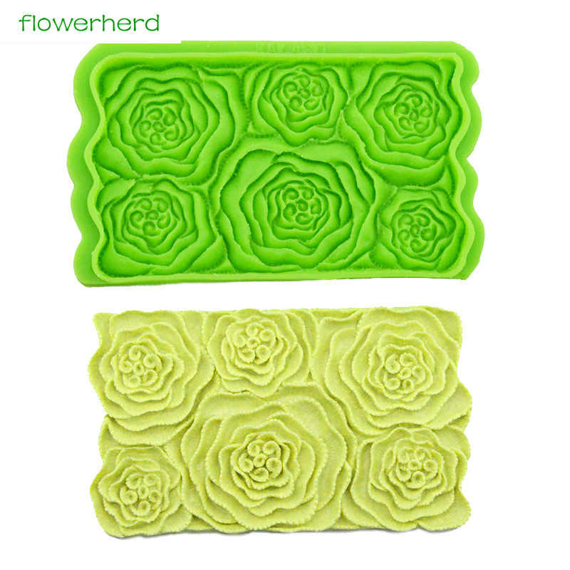Rose Silicone Cake Mold Flower Fondant Mold Wedding Silicone Mold Floral Fondant Cake Decorating Tools  Chocolate Sugar Tools