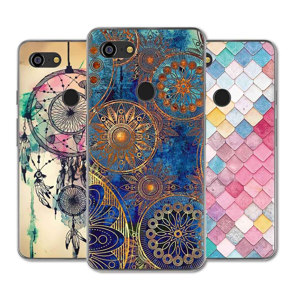 For Google Pixel 3 Case Google Pixel 3 XL Case Silicone Cute Animal Flower Painted Soft TPU Cover For Google Pixel 3 Phone Cases