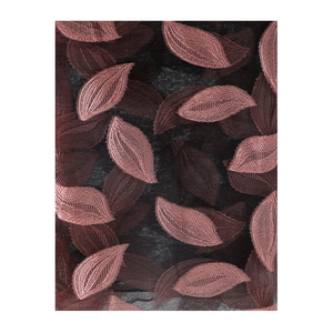 Image 5 - FOXMOTHER Women Scarfs Red Green Color Embroidered Leaves Lace Scarves Cut Flower Leaf Shawl Muslim Hijab Sjaal Scarfs Ladies
