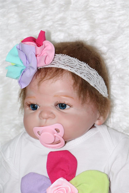 FULL BODY SILICONE Reborn Baby girl Doll 57cm Kid Toys
