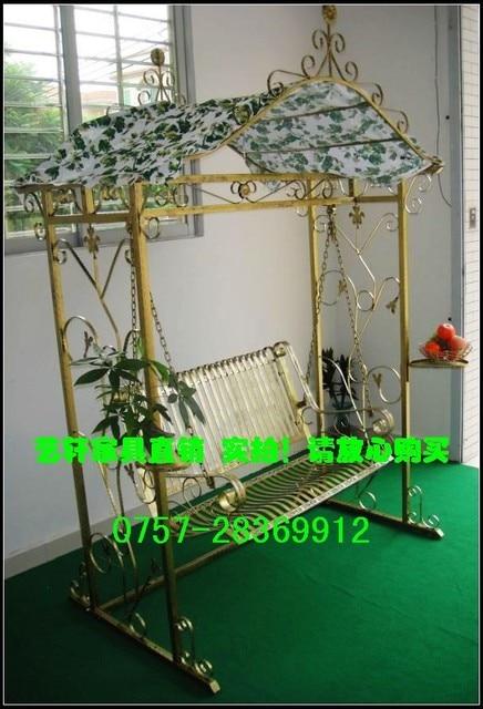 Double Yixuan Leisure Rattan Garden Terrace Villa Upscale Outdoor Wrought  Iron Swing Rocking Chair