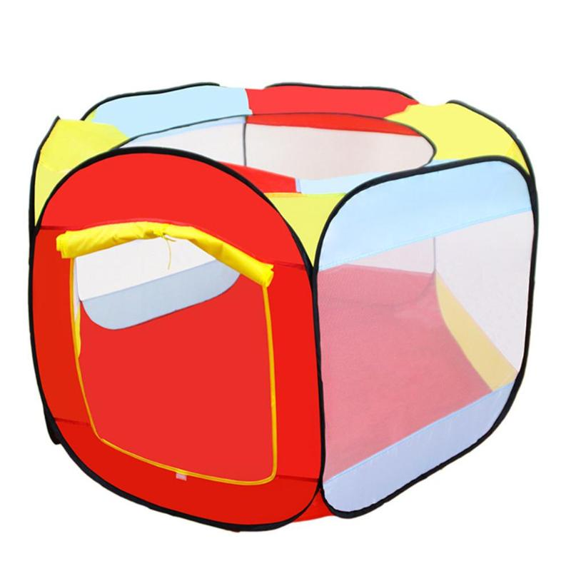 Portable Four-dimensional Square Children Tent Foldable Ocean Balls Pool Toy Tents Outdoor Play House Funny Girls Garden Gifts