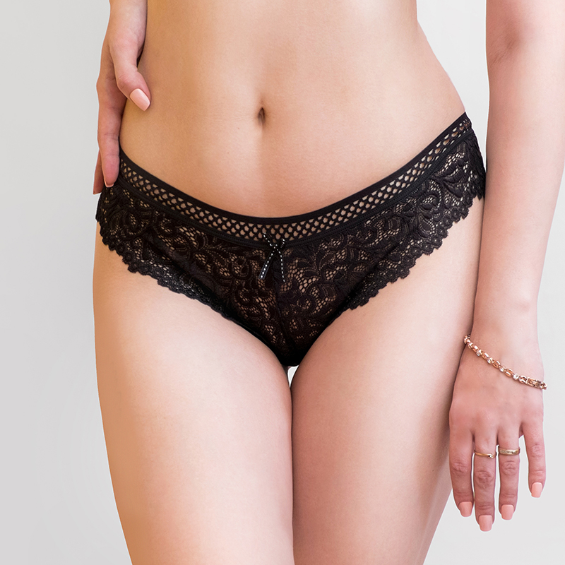 M L XL XXL size Brand good elasticity breathable lace   panties   women's party intimates cotton briefs underwear women plus size