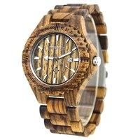Top Luxury Brand BEWELL Wood Quartz Watch For Men Luminous Pointers Round Dial Wristwatch Relogio Masculino