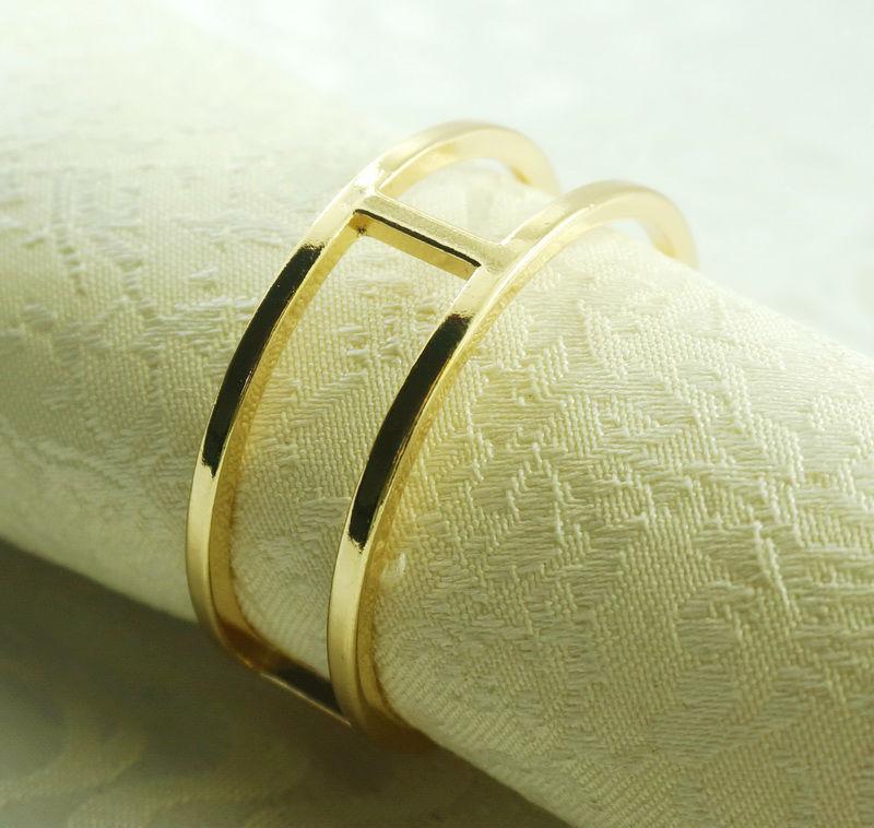 золотые кольца для салфеток