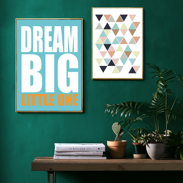 Nordic Poster Canvas Painting Art Print Modern Living Room Wall Poster English Creative Home Canvas Unique Picture Wall Picture