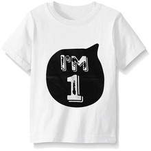 Summer 1 6 Years Old Child Baby Birthday Clothing T Shirt Top Girl Boy