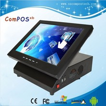 Convenience store / restaurant dedicated pos terminal, cheap 12 inch pos system liquid crystal touch membrane all in one pc