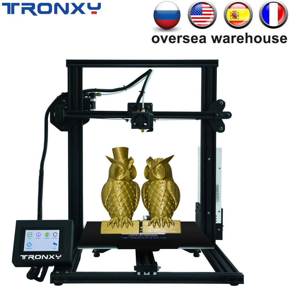 TRONXY XY-3 3D Printer Print 310*310*330 Touch Screen Fast Assembled Upgraded Nozzle Heat Bed for PLA ABS Flex Magnetic Sticker image