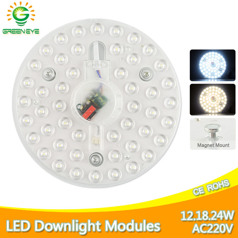 Magnet Ceiling Lamp <font><b>LED</b></font> <font><b>Module</b></font> AC220V 12W 18W <font><b>24W</b></font> <font><b>LED</b></font> Light Source Replace Ceiling Lighting Accessory Plate Ring Warm Cool White image