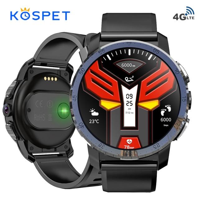 "KOSPET Optimus פרו 3GB 32GB 800mAh סוללה כפולה מערכות 4G חכם שעון טלפון 8.0MP 1.39 ""android7.1.1 Smartwatch גברים נשים"