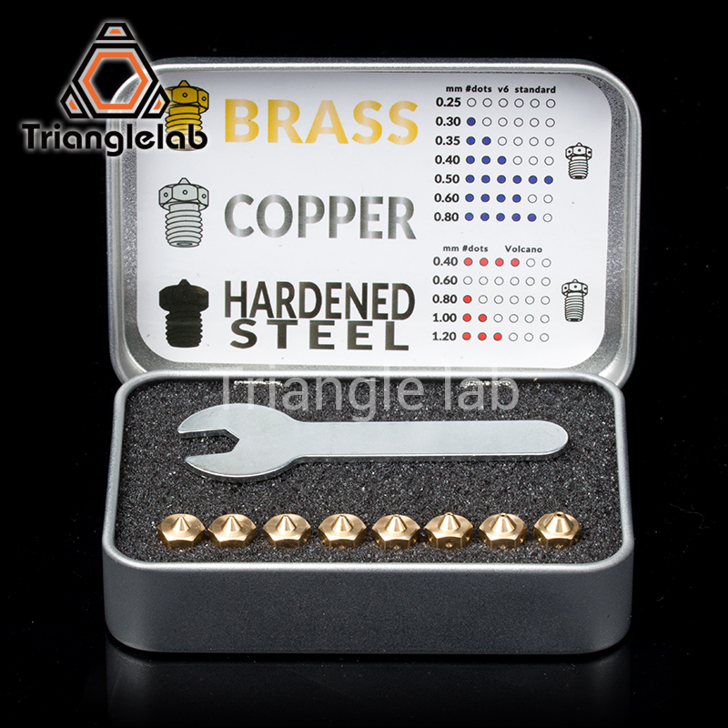 Trianglelab calidad superior V6 boquillas para 3D impresoras hotend tamaño completo paquete 3D impresora boquilla para E3D boquillas titan extrusora