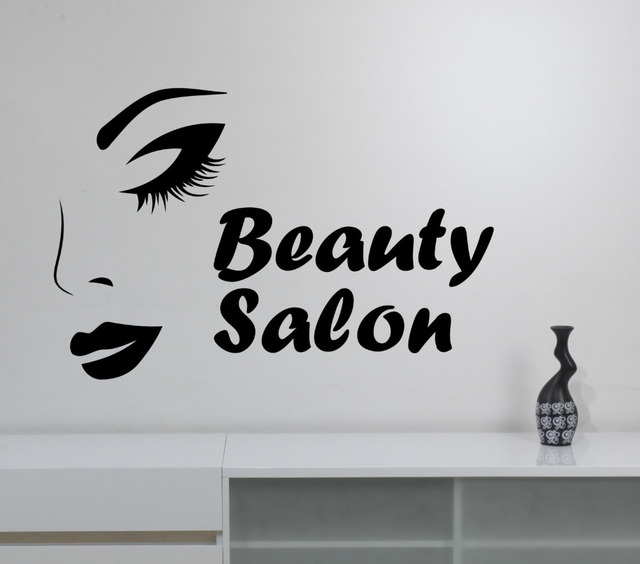 Sexy girl face black art stickers wallpaper beauty salon logo for sexy girl face black art stickers wallpaper beauty salon logo for hairdressers removable wall decals home altavistaventures Images
