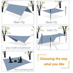 Image 5 - Ultralight Outdoor Draagbare Hangmat Luifel Opknoping Tent Slijtvaste Grote Multi Functionele Mat Vouwen Uv Proof Waterdicht