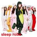 Nuevo 2016 caliente de la historieta ropa de dormir de las mujeres de La Novedad hogar Dinosaurios Panda hello kitty animal dormir Pijamas hombres bata bata
