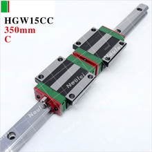 HIWIN HGW15CC slider block or HGW15CA flange with 350mm linear guide rail HGR15 CNC kit