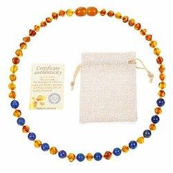 HAOHUPO Colar de Âmbar Natural Fornecer o Certificado de Autenticidade Genuína Baltic Amber Pulseira Pedra Presentes do Dia Dos Namorados Do Bebê