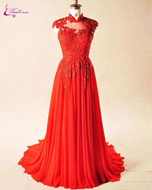 Waulizane Elegante Appliques Tulle Sleeveless A linie Brautkleider ...