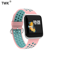 TWK 2019 Pink Smart Watch Women Men 24h Heart Rate Blood Pressure Smartwatch Sport Watches for iOS Android pk apple Watch reloj