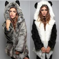 Womens Faux Fur Females Casual Long Coats Lady Slim Covered Button Fox Clothing Girls Slim Designer