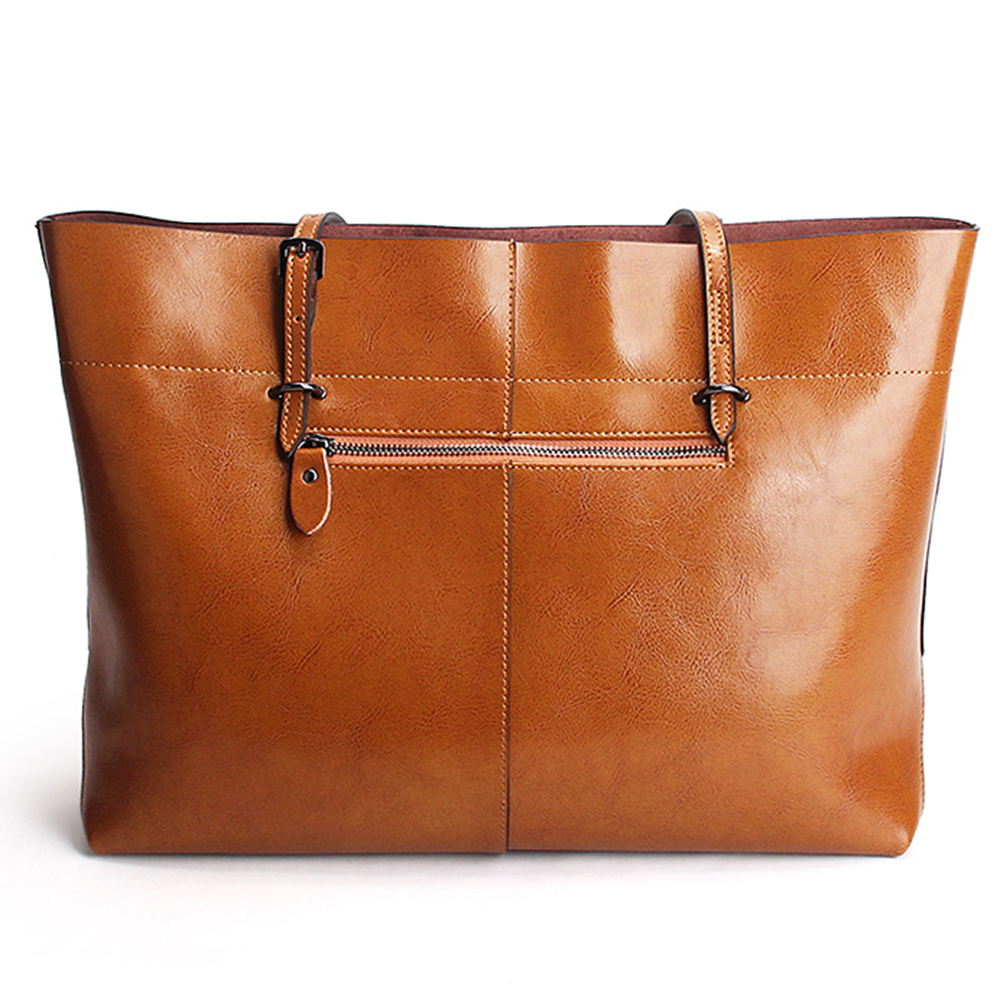 2018 New Style Brown Women Handbag 100% Genuine Leather Female Shoulder Purse Ladies Black Tote Bag Large Capacity Shopping Bags 3