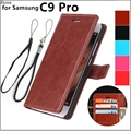 card holder cover case for Samsung Galaxy C9 Pro C9000 leather case flip Phone cover Holster wallet Case for Samsung C9 Pro