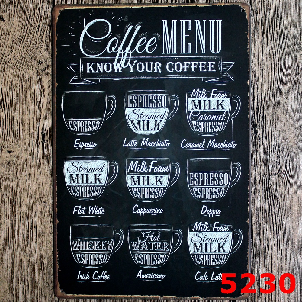coffee sign for Vintage Home Decor Tin Sign Coffee Cake Shop Wall ...