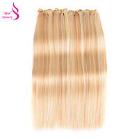 Real Beauty Straight Brazilian Hair Bundles P18 613 Color 100 Remy Human Hair Weave Free Express