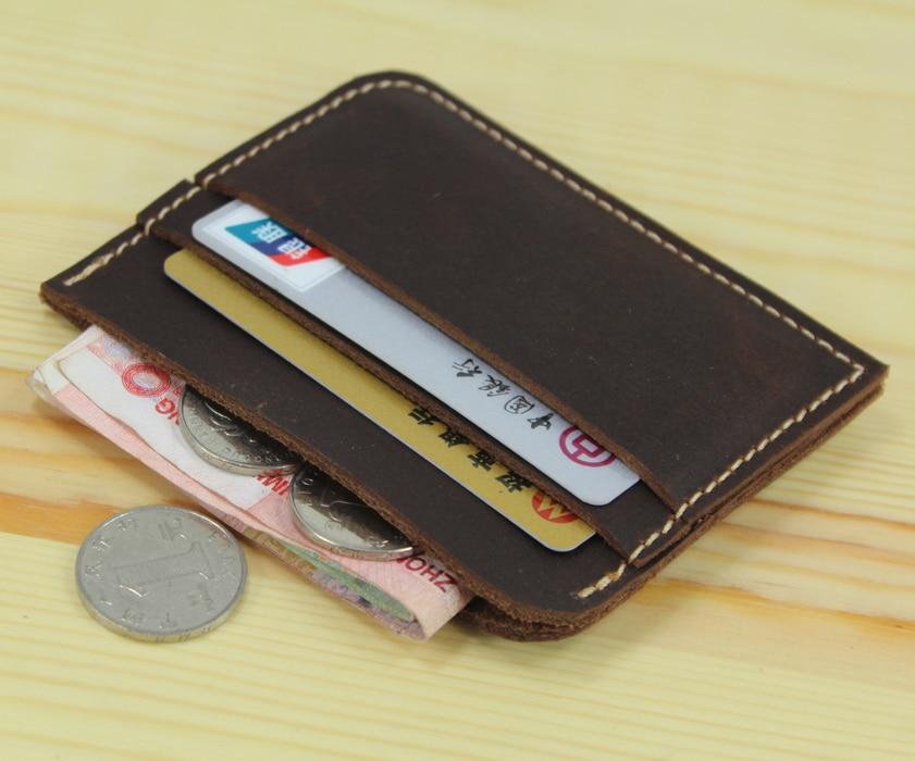 100 genuine leather credit card holder men card id holder for Women business card holder