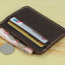 100% Genuine Leather Credit Card Holder Men Card ID Holder Case Women