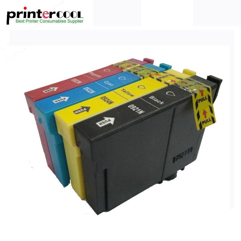 1 Conjunto T0921 T0921N Cartucho de Tinta Compatível Para Epson Stylus CX4300 T26 T27 TX117 TX119 TX106 TX109 C91 Impressora T0921-T0924