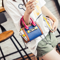 Color block 2017 wings package lockbutton women's handbag chain for mini small bags lychee shoulder bag