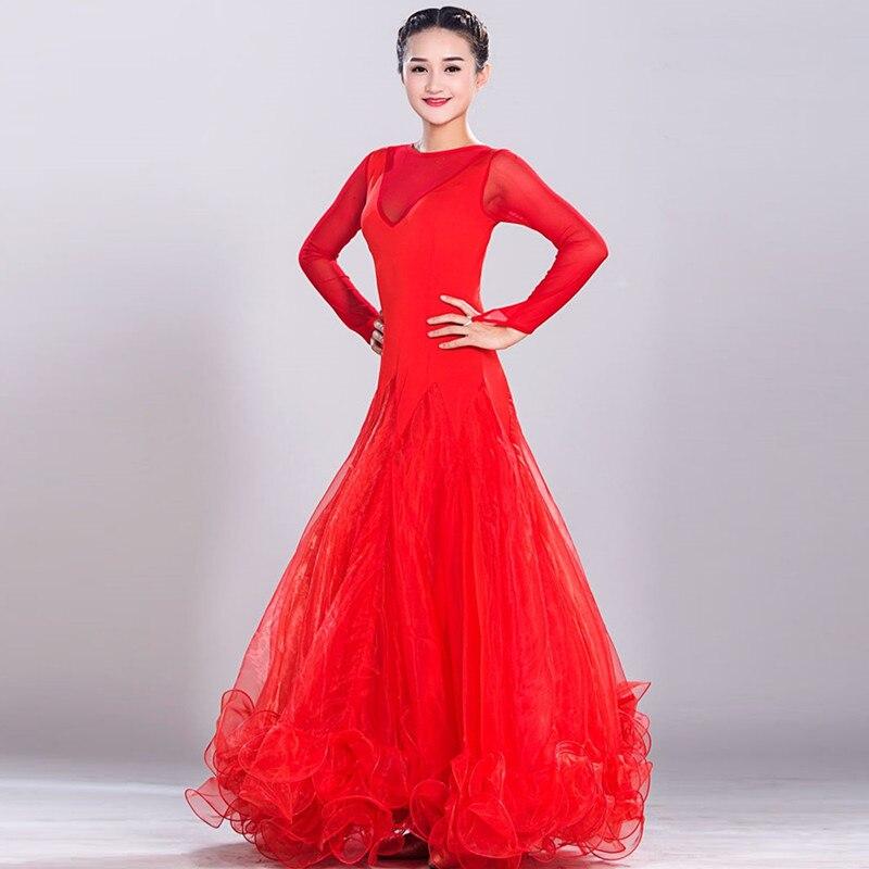 Ballroom dance dress waltz rumba standard smooth dance dresses Standard social tango dress dance competition dress