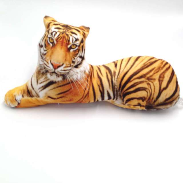 CAMMITEVER 1PC 3D Animal Tiger Shape Throw Pillow Cotton Plush Soft Office Cushion Gift Cute Sofa Home Decor