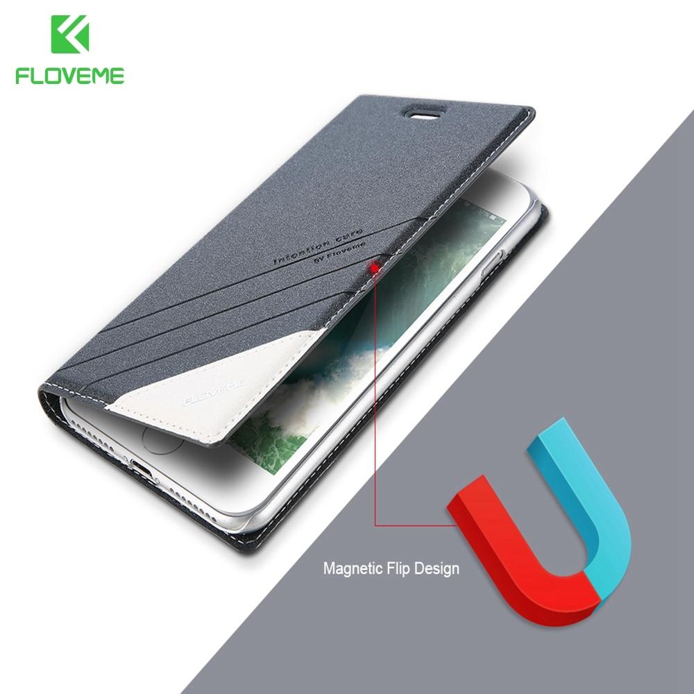 Floveme Флип кожаный чехол для iPhone 6 7 6s 8 Plus 6s Plus для IPhone X десять 10 чехол телефона слот для карт чехол для iPhone 5 5S se чехол на айфон 5s 7 6 6s чехлы на айф... ...