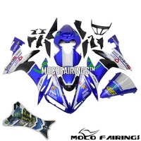 Бесплатная лобовое стекло мотоцикла ABS обтекателя Обложка для Yamaha YZF R1 2004 2005 2006 обшивка синего цвета комплект 04 05 06