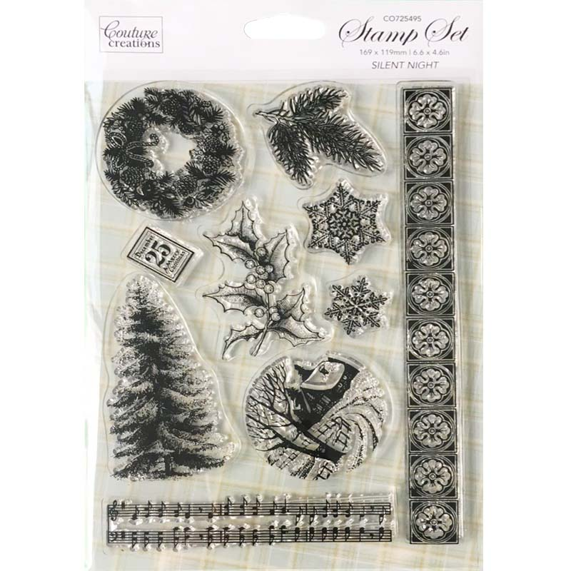 Couture Creations Branded clear stamp - CO725495 Silent night - Cardmaking & Scrapbooking and DIY stamping three creations 200pcs 7x5cm