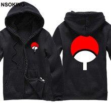 New Naruto Sasuke Uchiha hoodie Anime Jacket caot Men Cotton Fall and Winter zipper Sweatshirts
