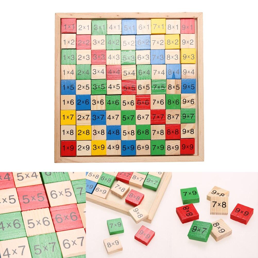 Juguete de dominó de matemáticas doble cara multiplicación tabla patrón impreso tablero niños educativos juguetes de matemáticas de madera
