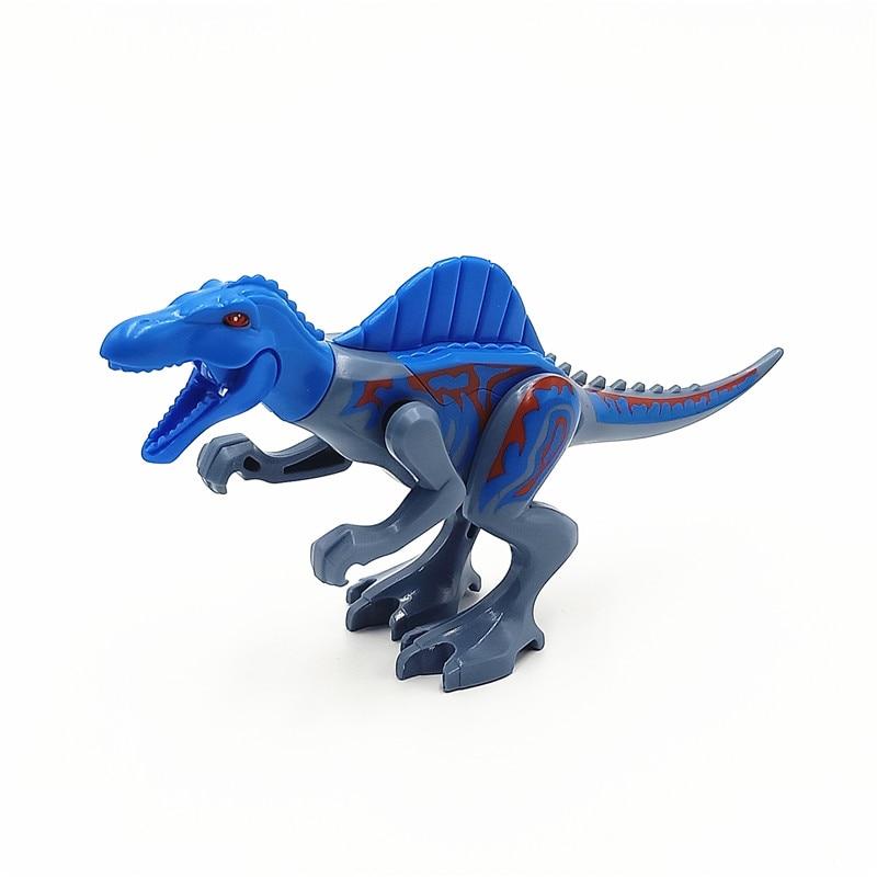 1pcs super heroes jurassic world dinosaurs figures spinosaurus tyrannosaurus rex building block - Lego dinosaurs spinosaurus ...