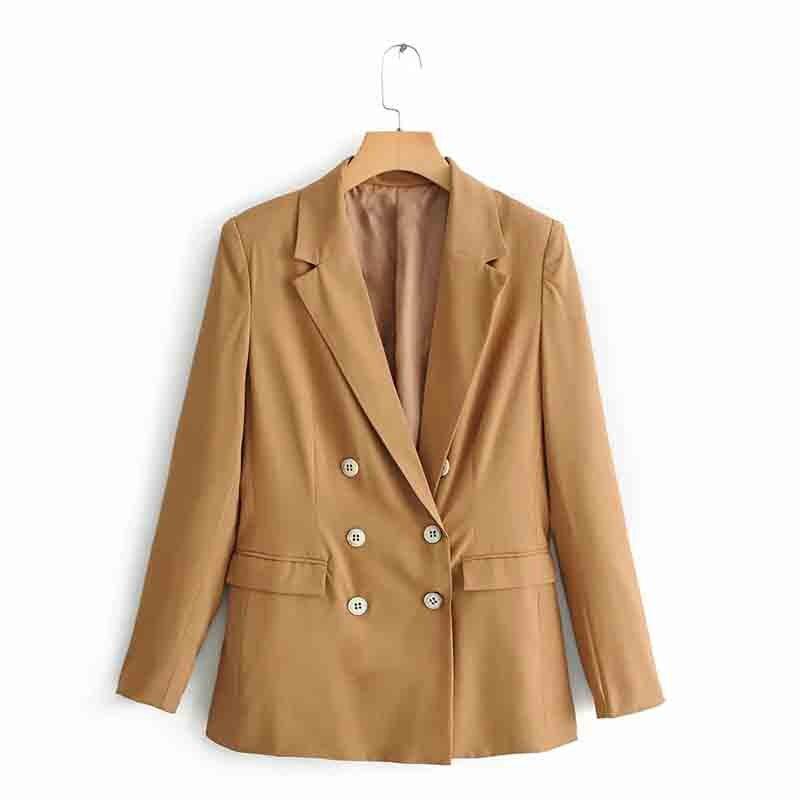 Women blazer Fashion Long Sleeve Coat Women Elegant Jacket Ladies female casual coats office wear stylish outerwear tops in Blazers from Women 39 s Clothing