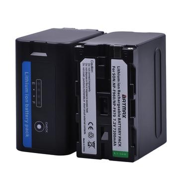 Batmax 2pcs 7200mAh NP-F970 F960 F970 NP-F960 Battery akku with LED Power Indicators for Sony NP-F550 NP-F770 NP-F750 F960 F970 фото